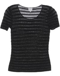 Armani Short Sleeve Sweater - Lyst