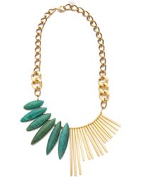 Gemma Redux - Turquoise Asymmetrical Necklace - Lyst