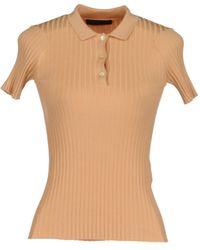 Jil Sander Navy Short Sleeve Sweater - Lyst