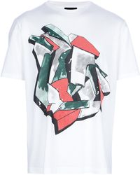 Lanvin Abstract Print Tshirt - Lyst