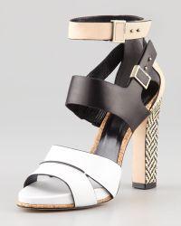 Rachel Roy - Fawn Colorblock Leather Sandal - Lyst