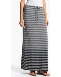 Allen Allen   Ombré Stripe Maxi Skirt   Lyst