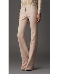 Burberry Minimal Tailored Trousers - Lyst