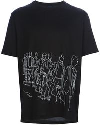 Lanvin Illustrated Print T-Shirt - Lyst