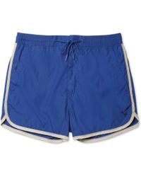Marc By Marc Jacobs Piped Shortlength Swim Shorts - Lyst