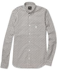 McQ by Alexander McQueen Slimfit Printed Cotton Shirt - Lyst