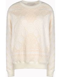 Stella McCartney Calico Jacquard Sweat Long Sleeved Sweater - Lyst