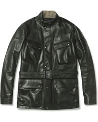 Belstaff Preston Leather Jacket - Lyst