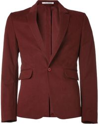Carven Slim Fit Cotton Blend Blazer - Lyst