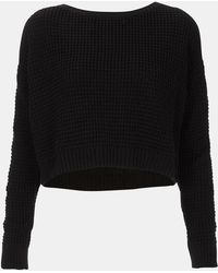 Topshop Crop Sweater - Lyst