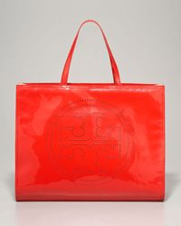 Tory Burch Perforated Logo Tote Bag - Lyst