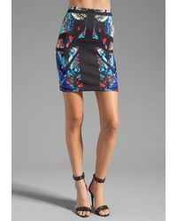 Clover Canyon Aquarium Puzzle Neoprene Skirt - Lyst