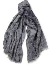 Paul Smith Lightweight Jacquardwoven Scarf - Lyst