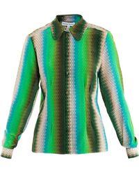 Jonathan Saunders Simona Ombré Spot-Print Shirt - Lyst