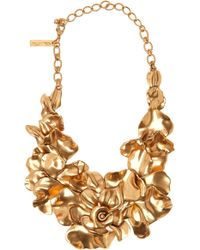 Oscar de la Renta Rose Petal Collar Necklace - Lyst