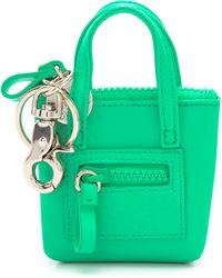 See By Chloé Zip File Key Ring green - Lyst