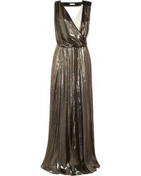 Vionnet Metallic Silk blend and Cady Gown - Lyst