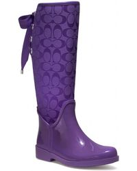 Coach Tristee Spring Nylex Insole Rainboot - Lyst