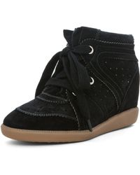 Isabel Marant Bobby Sneaker in Anthracite - Lyst