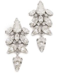 Jenny Packham Tesoro Earrings Iv - Rhodium silver - Lyst