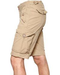 Ralph Lauren Blue Label - Cotton Poplin Cargo Shorts - Lyst
