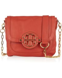 Tory Burch Amanda Leather Shoulder Bag - Lyst