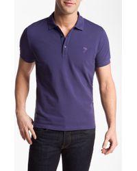 Versace Versace Cotton Polo Shirt - Lyst