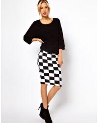 ASOS - Asos Pencil Skirt in Checkerboard Print - Lyst