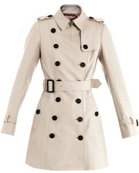 Burberry Prorsum Cotton Trench Coat - Lyst