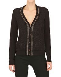 Ferragamo Textured Cotton Knit Cardigan - Lyst
