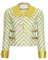 Marc Jacobs Tweed Blazer with Sequin Trim - Lyst