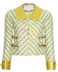 Marc Jacobs Tweed Blazer with Sequin Trim yellow - Lyst