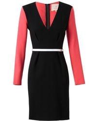 Roksanda Crepe Wool Dress with Belt red - Lyst