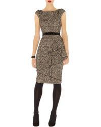Karen Millen Wool Tweed Dress - Lyst