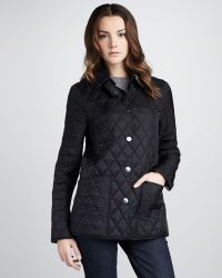 Burberry Brit Quilted Snap Coat - Lyst