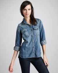 Current/Elliott The Perfect Denim Shirt blue - Lyst