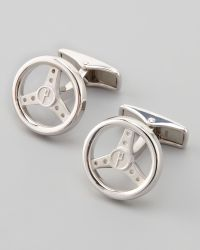 Dunhill Silver Steering Wheel Cuff Links - Lyst