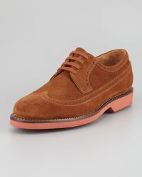 Ralph Lauren - Hoover Snuff Suede Laceup Oxford - Lyst