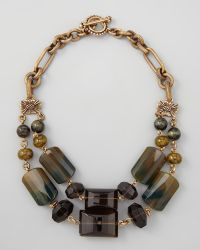 Stephen Dweck - Doublestrand Green Agate Necklace - Lyst