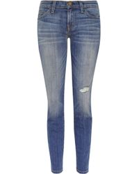 Current/Elliott The Stiletto Cropped Low Rise Skinny Jeans - Lyst