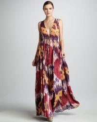 Rachel Pally Ikatprint Vneck Dress - Lyst