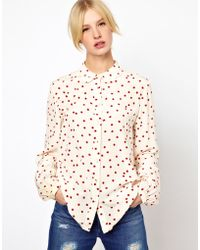 Boutique by Jaeger - Ladybird Scallop Collar Blouse - Lyst