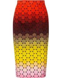 Jonathan Saunders Axel Polkadot Stretchcotton Twill Pencil Skirt multicolor - Lyst