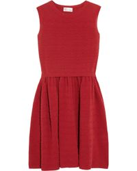 RED Valentino Scalloped Stretchknit Cotton Dress - Lyst
