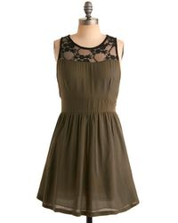 ModCloth Olive and Well Dress - Lyst