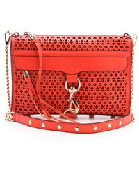 Rebecca Minkoff Triangle Perf Mac Bag - Lyst