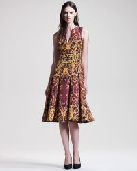 Wes Gordon Ormolu Print Key Dress - Lyst
