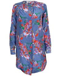 Derek Lam 10 Crosby Floral Print Tunic Dress - Lyst