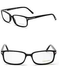 Tom Ford Oversize Rectangle Optical Frames - Lyst