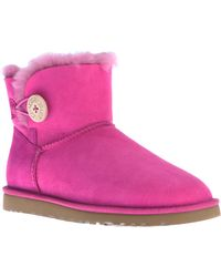 Ugg Ankle Length Mini Button Boot - Lyst